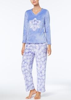 Charter Club Plush Applique Pajama Set, Created for Macy's