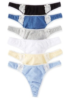 Charter Club Pointelle Cotton Thong