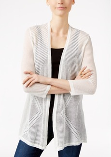 Charter Club Pointelle Open-Front Cardigan, Only at Macy's