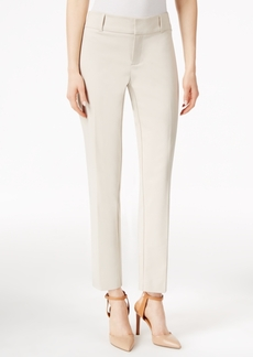 Charter Club Polished Stretch Extend Tab Slim Ankle Pants, Only at Macy's