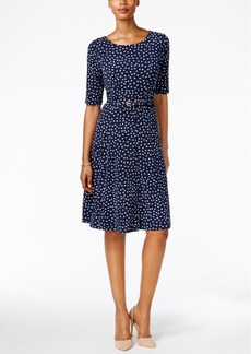 Charter Club Polka-Dot Fit & Flare Dress, Only at Macy's