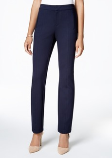 Charter Club Ponte Front-Seam Slim-Leg Pants, Only at Macy's