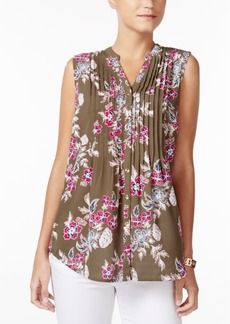 Charter Club Print Sleeveless Shirt, Created for Macy's