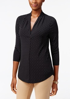 Charter Club Printed V-Neck Top, Only at Macy's