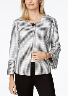 Charter Club Printed Bell-Sleeve Jacket, Created for Macy's