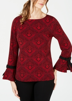 Charter Club Petite Bow-Sleeve Top, Created for Macy's