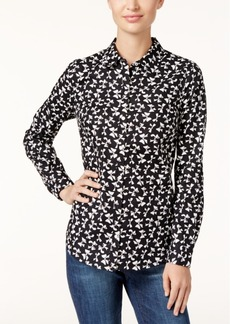 Charter Club Printed Bow Shirt, Only at Macy's