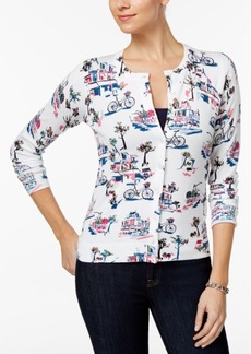 Charter Club Printed Cardigan, Only at Macy's