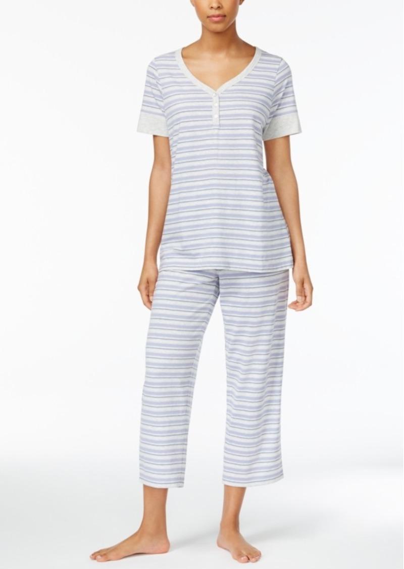29fbec80b8f4 Charter Club Charter Club Printed Cotton Knit Pajama Set, Created ...