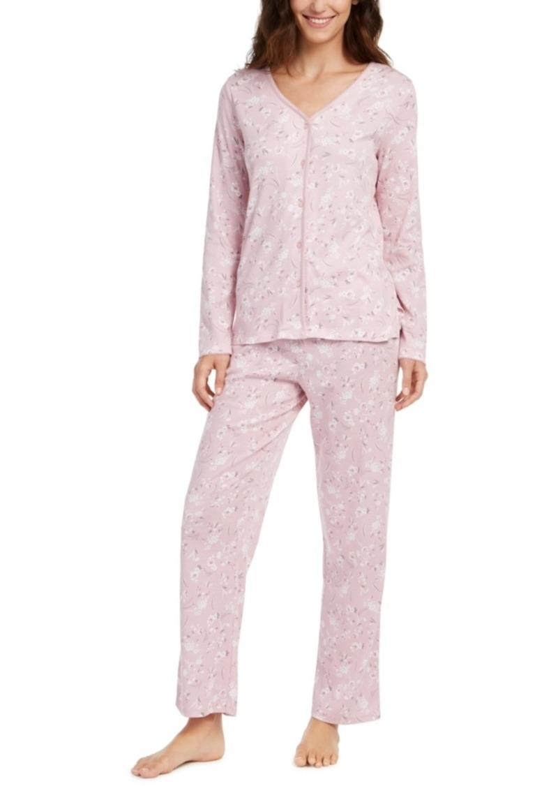 Charter Club Printed Cotton Pajamas Set, Created for Macy's