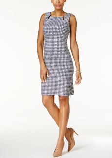 Charter Club Petite Printed Keyhole Sheath Dress, Only At Macy's
