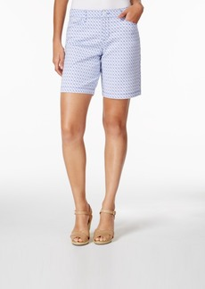 Charter Club Printed Denim Shorts, Only at Macy's