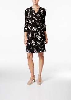 Charter Club Printed Faux-Wrap Dress, Only at Macy's