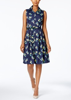 Charter Club Printed Fit & Flare Shirtdress, Only at Macy's