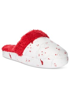 Charter Club Printed Flannel Slippers, Only at Macy's