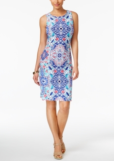 Charter Club Petite Printed Sheath Dress, Only at Macy's