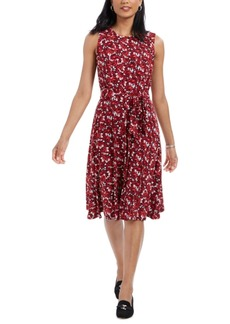Charter Club Printed Tie-Waist Dress, Created For Macy's