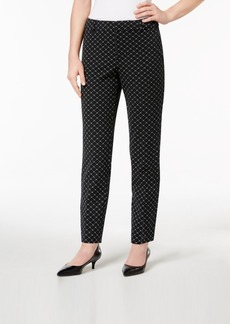 Charter Club Printed Tummy-Control Ankle Pants, Created for Macy's