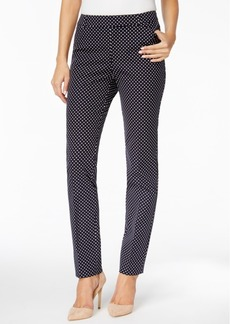 Charter Club Bistretch Dot Printed Tummy-Control Ankle Pants, Only at Macy's