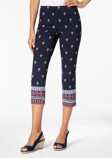 Charter Club Printed Tummy-Control Capri Pants, Created for Macy's