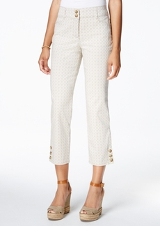 Charter Club Printed Tummy-Control Capri Pants, Created for Macy's