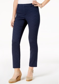 Charter Club Printed Tummy-Control Slim Ankle Pants, Created for Macy's