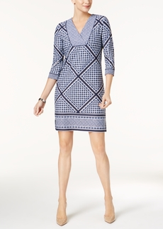 Charter Club Printed V-Neck Dress, Created for Macy's