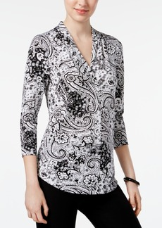 Charter Club Printed V-Neck Top, Created for Macy's