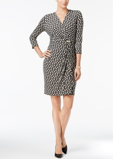 Charter Club Petite Printed Wrap Dress, Created for Macy's