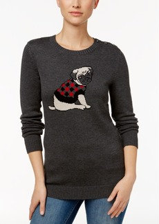 Charter Club Pug Graphic Sweater, Only at Macy's