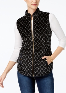 Charter Club Quilted Velour Vest, Created for Macy's
