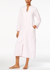 Charter Club Quilted Zip-Front Long Robe, Only at Macy's