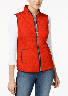 Charter Club Quilted Zip-Front Vest, Created for Macy's