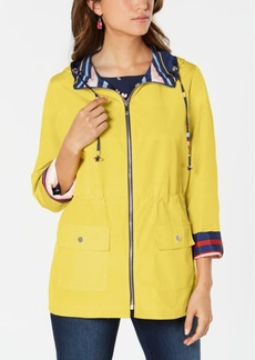 Charter Club Reversible Striped Anorak, Created for Macy's