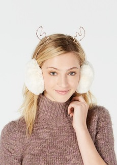 Charter Club Rhinestone Reindeer Earmuffs, Created for Macy's