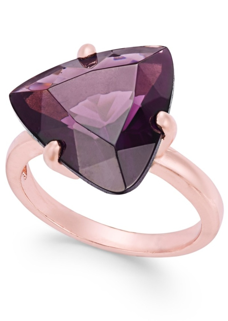 Charter Club Rose Gold-Tone Stone Cocktail Ring, Only at Macy's