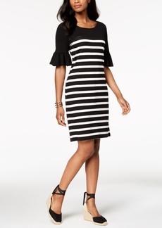 Charter Club Ruffle-Sleeve Shift Dress, Created for Macy's