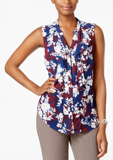 Charter Club Petite Floral-Print Shell, Created for Macy's