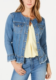 Charter Club Ruffled Denim Jacket, Created for Macy's