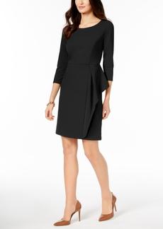 Charter Club Petite Side-Flounce Shift Dress, Created for Macy's