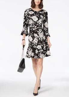 Charter Club Ruffled Printed Dress, Created for Macy's