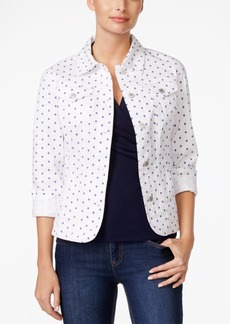Charter Club Sailboat-Print Denim Jacket, Only at Macy's