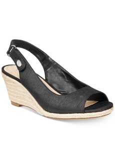 Charter Club Samiee Slingback Espadrille Wedge Sandals, Created for Macy's Women's Shoes