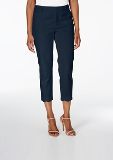 Charter Club Scallop-Hem Pique Capri Pants, Only at Macy's