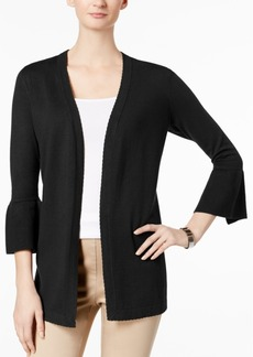 Charter Club Scalloped Bell-Sleeve Cardigan, Created for Macy's