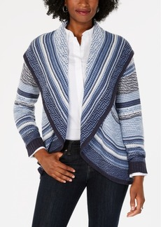 Charter Club Petite Shawl-Collar Open-Front Cardigan, Created for Macy's