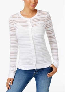 Charter Club Sheer Striped Cardigan, Only at Macy's