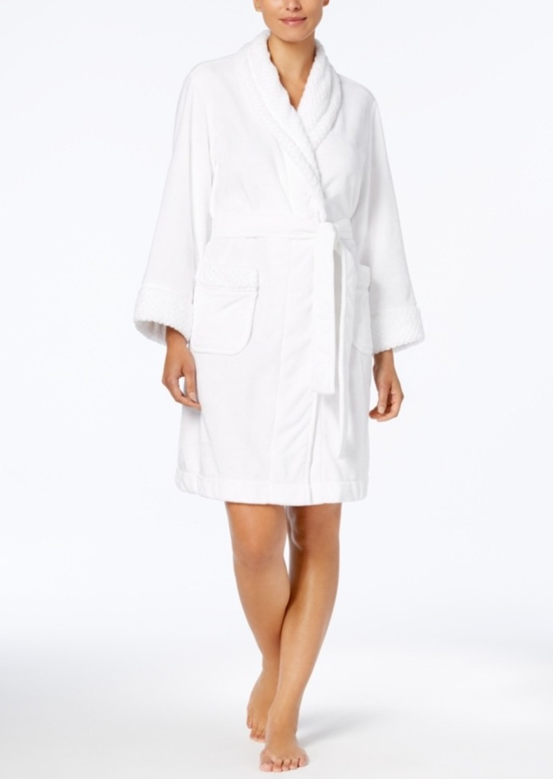 Charter Club Charter Club Short Dimple Contrast Robe 1705f8424