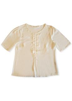 Charter Club Short Sleeve Ruffle Top, Created for Macy's