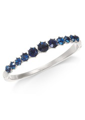 Charter Club Silver-Tone Crystal Bangle Bracelet, Created for Macy's